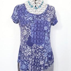 Lucky Brand Floral Print Short Sleeve Tshirt